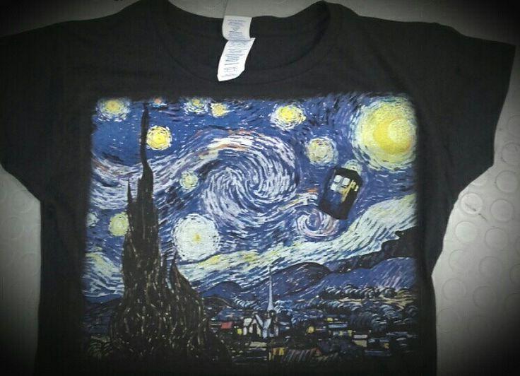T-shirt personalizzata van Gogh tardis
