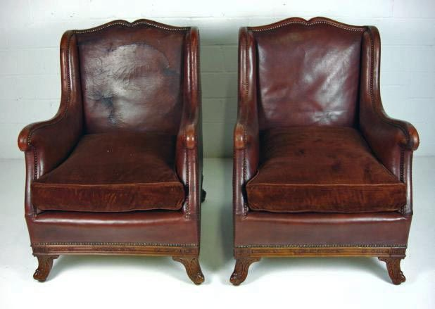 club chairs - inspirationHead Trim, Frames Leather, Cities Flats, 1930 Seats, Chairs Style, Leather Club Chairs, Media, Leather Chairs, Carvings Wooden
