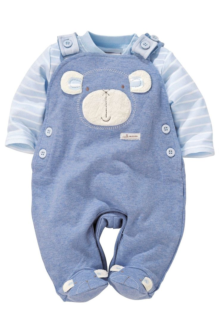 Newborn Clothing - Baby Clothes and Infantwear - Next Monkey Dungarees With Bodysuit - EziBuy Australia
