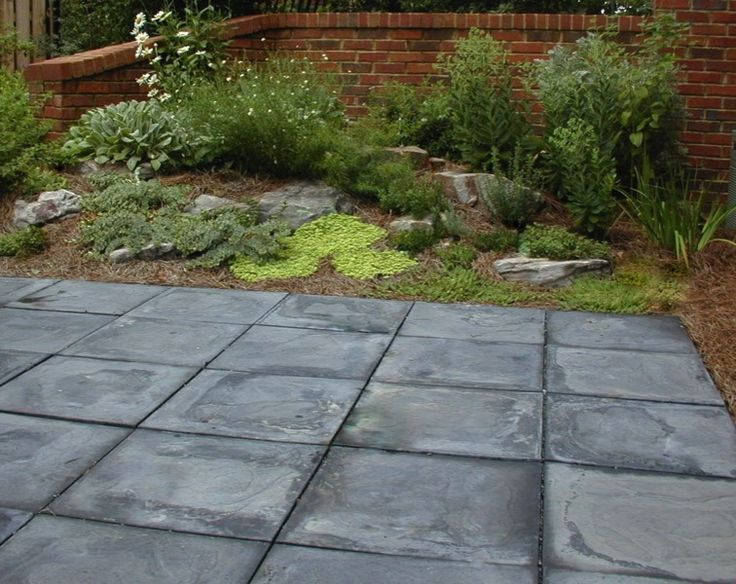 Slate Patio With Fire Pit