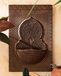 Mosaic Tile Wall Fountain - traditional - outdoor fountains - by Horchow