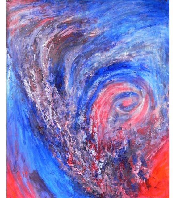 Symfonie in E | acryl op linnenpapier | ca 140 x 170 cm | © Irka Stachiw #acrylic #art #painting