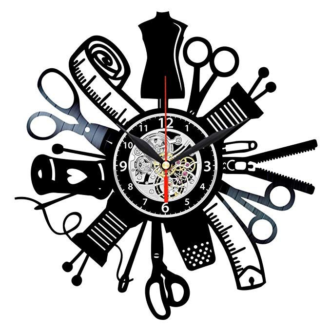 Queen Clocks Sewing Tools Vinyl Record Wall Clock Handmade Gift For People Who Love To Sew Quilter Gifts Vintage Wall Clock Wall Clock