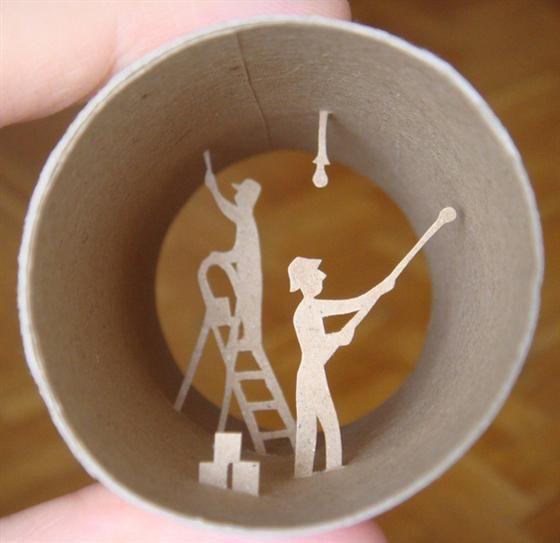 kunst met een toiletrol papier