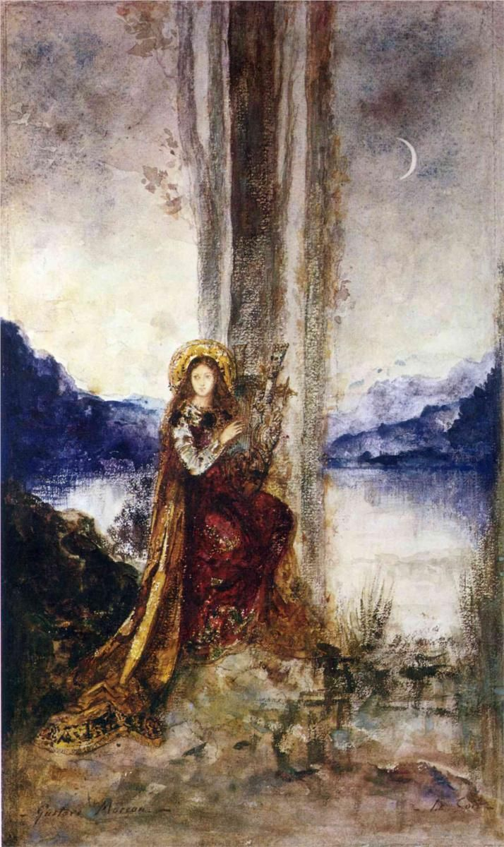 Watercolor art history brush - The Evening Gustave Moreau