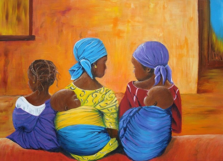 Afrikaanse vrouwen met kinderen