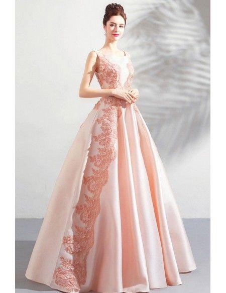 72e70ba0ae4 Stunning Blush Pink Long Formal Satin Prom Dress Sleeveless Wholesale   T69009 - GemGrace.com