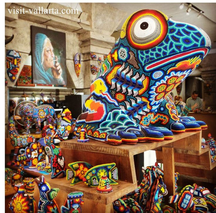 Huichol art is produced by the Huichol people of Jalisco, Durango, & Nayarit in Mexico.