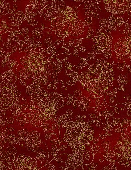 Timeless Treasures - Pashmina CM1144-Red