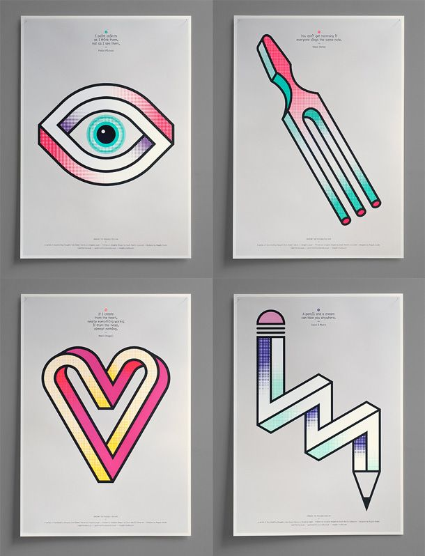 15 Optical Illusion Posters 4