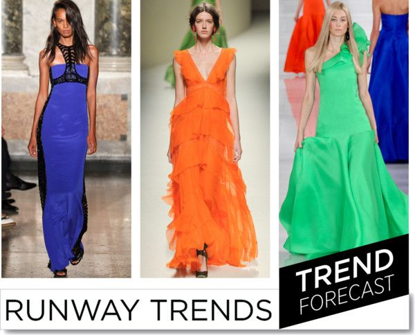 Bold Colours at Night SS2014  http://www.sandrascloset.com/the-most-important-ss-2014-runway-trends/