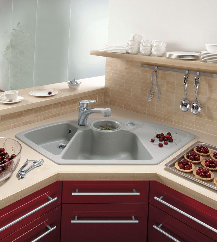 угловые кухни с раковиной в углу фото главный критерий