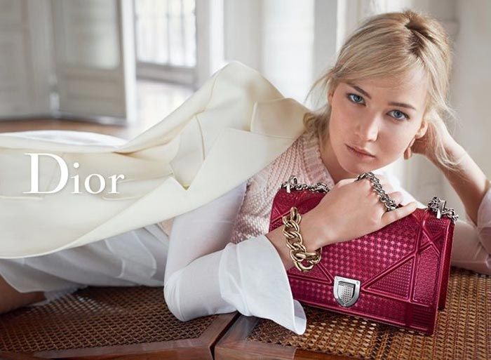 Jennifer Lawrence In Dior Handbags Spring 2016 Ads