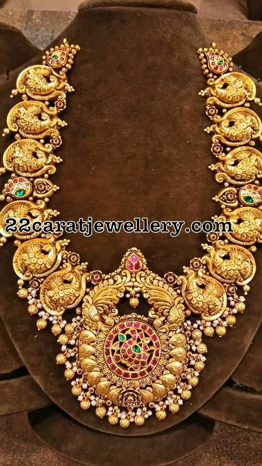 Peacock Antique Necklace - Jewellery Designs