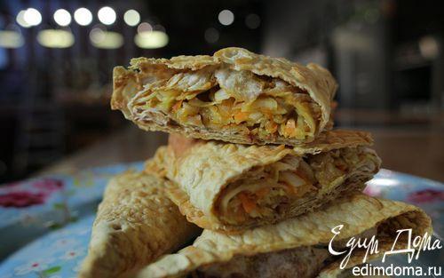 Пирожки из лаваша с курицей и капустой  | Кулинарные рецепты от «Едим дома!»