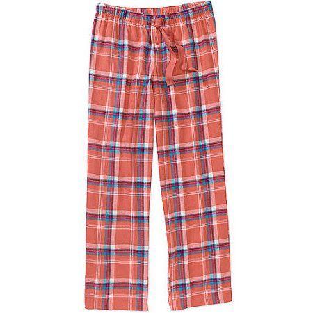Women's Plus Flannel Pajama Pants, Orange