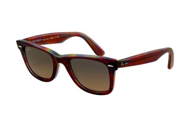 Ray Ban Wayfarer RB2140 Sunglasses Red Tortoise Frame Crystal Brown Polarized Lens AOK