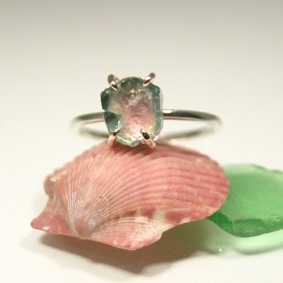 A Slice of Heaven, Ladies Maine Watermelon Tourmaline Gold Ring