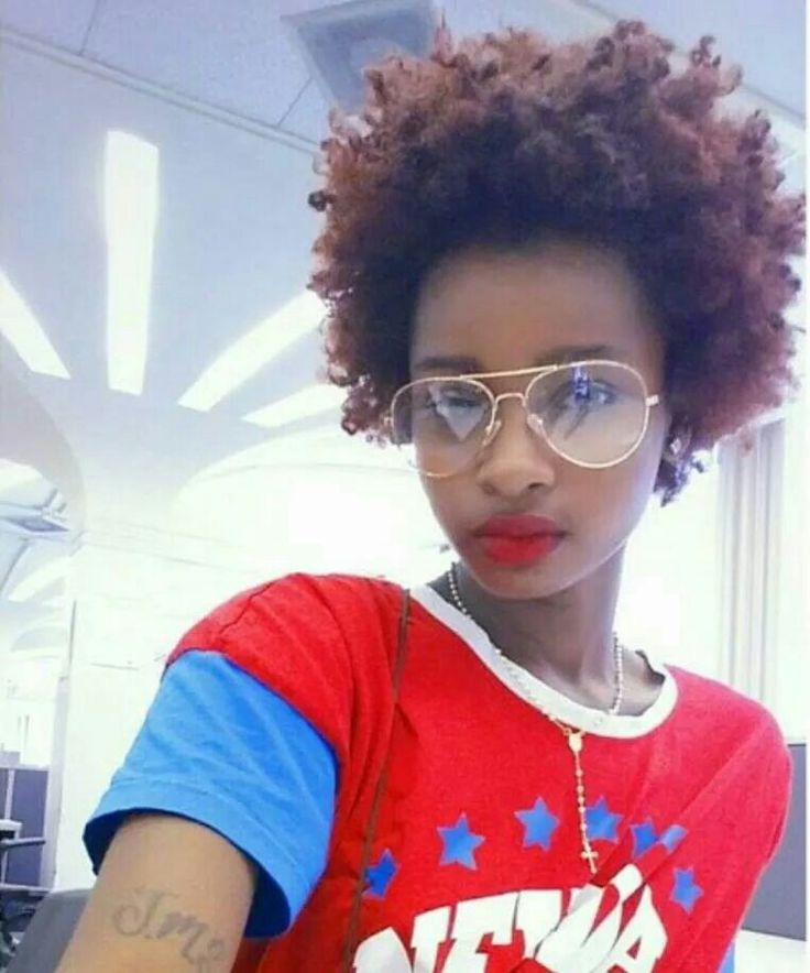 Loving her fro