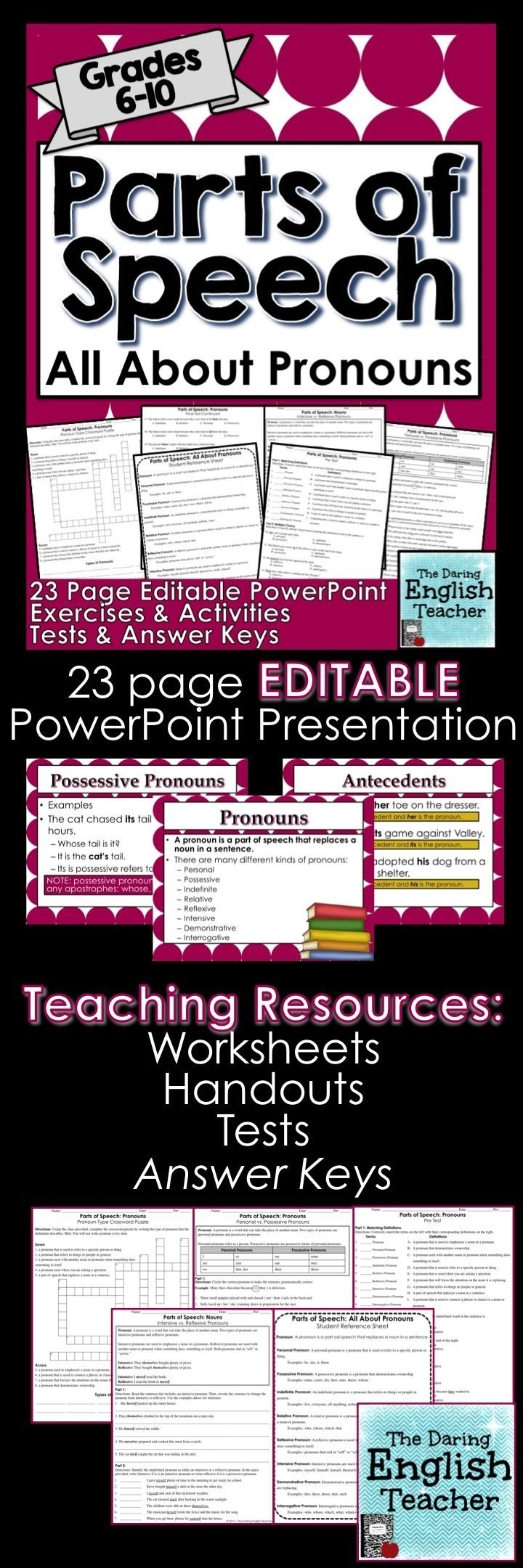 Workbooks high school language arts worksheets : Best 25+ Middle school grammar ideas on Pinterest | Middle school ...