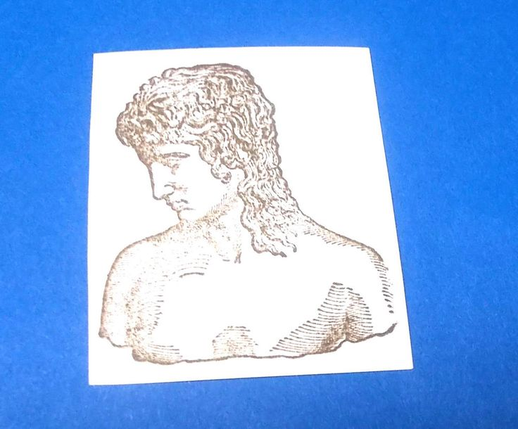 Woman statue graven image rubber stamp unusual art stamps unmounted cushion