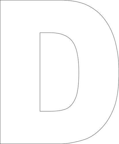 Large Letter D Printable | Printable Alphabet Template - Free Printable Alphabet Template Upper ...
