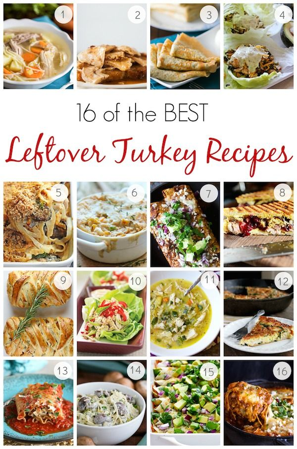 16 of the BEST Leftover Turkey Recipes – Perfect for Thanksgiving Leftovers! @natashaskitchen
