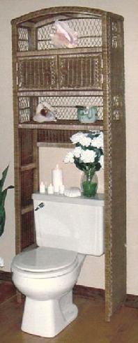 Wicker Over Toilet Space Saver | Amazon.com: 3 Shelf/Storage Unit With
