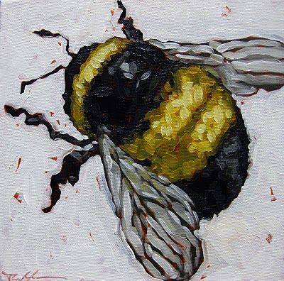Painted Pet Portraits Bumble Bee Oil on Canvas