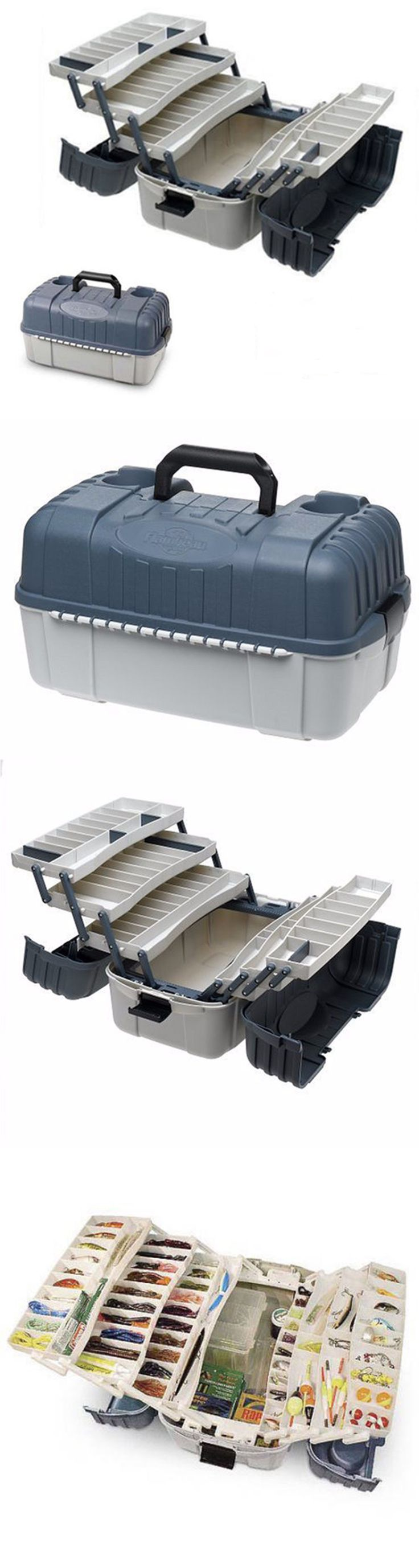 Tackle Boxes And Bags 22696 Fishing Box 7 Tray Hooks Lure Gear Organizer Storage