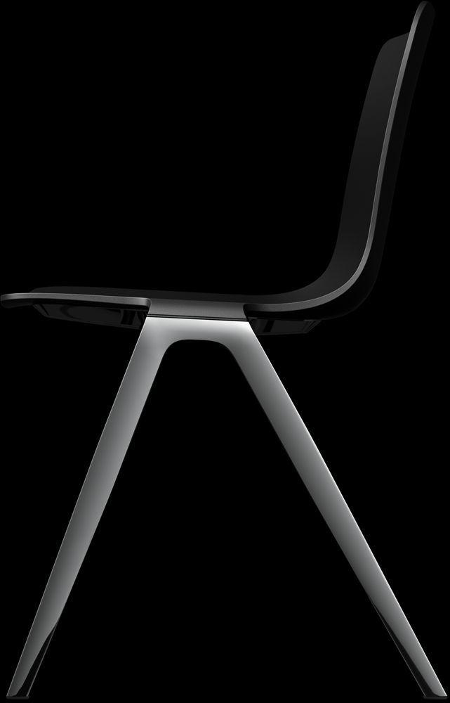 A-Chair in black, modern minimalistic furniture | chair . Stuhl .  chaise | Design: jehs+laub  | Brunner  |