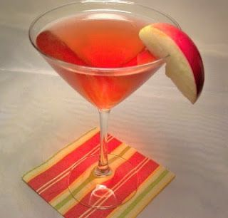 The Best Red Apple Martini...Really does taste like a red apple! Only 3 Simple Ingredients!