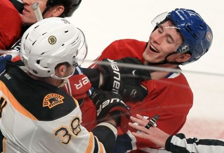 Brendan Gallagher vs. Boston in Round 2 of the 2014 Stanley Cup Playoffs