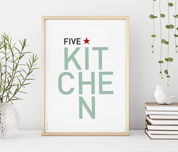A personal favorite from my Etsy shop https://www.etsy.com/no-en/listing/547164696/five-star-kitchen-print