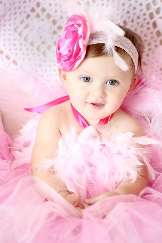 f35178bf5505 Gorgeous Hot Pink and Light Pink Feather Tutu Dress for Baby Girl 6-18  Months First Birthday