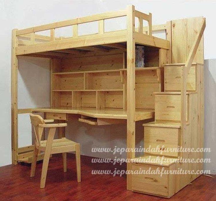 Jual Furniture Rumah Meja Belajar Plus Tempat Tidur Untuk