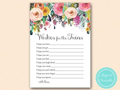 tlc140-wishes-for-the-twins-sign-baby-shower-shabby-chic-floral-baby-shower