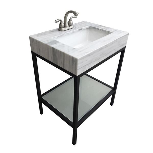 Shop Bestview 25w X 19d Vaia Stainless Steel Vanity Combo With