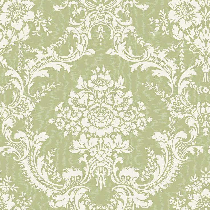 green large contemporary damask wallpaper sample
