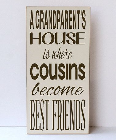 Look what I found on #zulily! Cream 'Grandparent's House' Wall Art by Vinyl Crafts #zulilyfinds