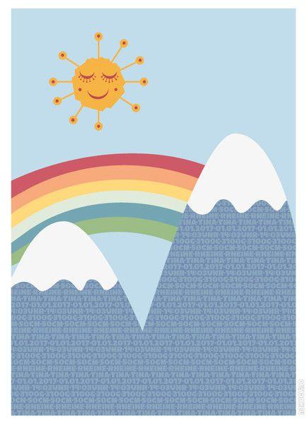 Weiteres - Geburtsanzeige Berge - ein Designerstück von NAHUELINO bei DaWanda