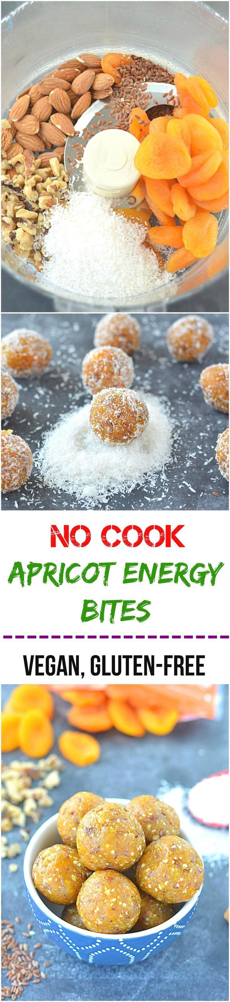 No Cook Apricot Energy Bites