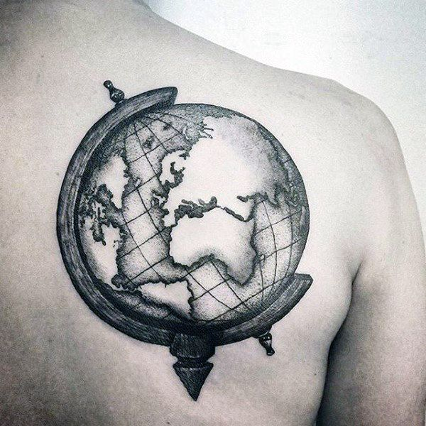 Image result for globe tattoo