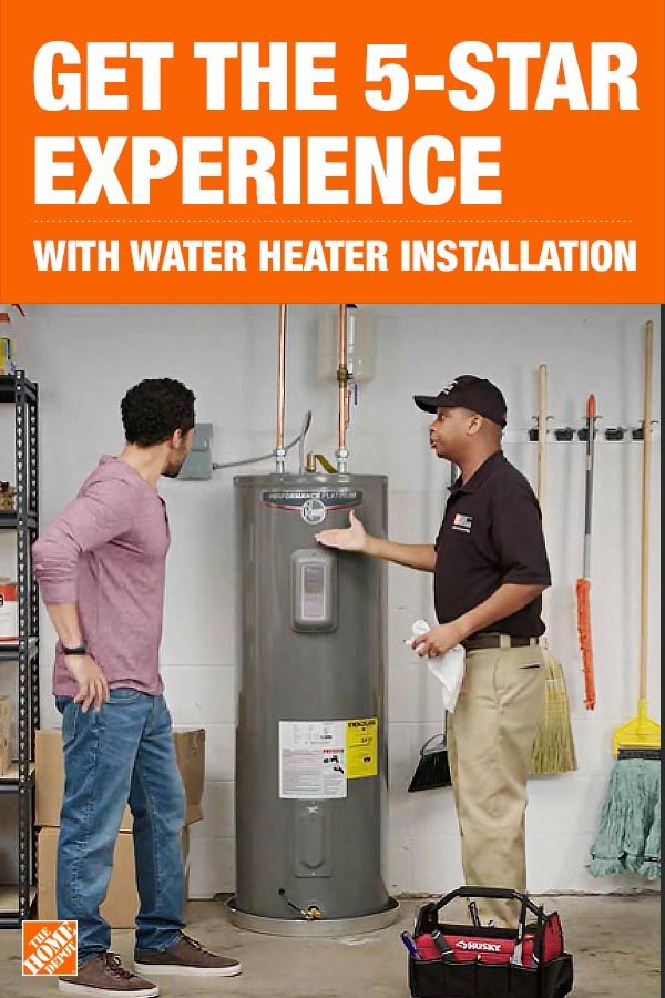 With Same Day Installation From The Home Depot S Home Services You Don T Have To Get Your Hands Wet If You Water Heater Installation Water Heater Home Depot