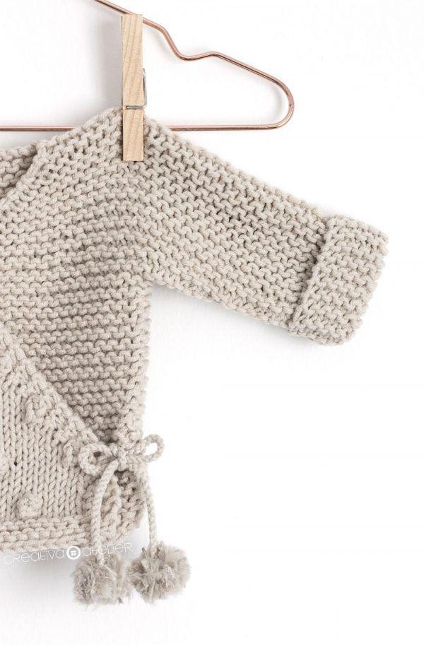 Kimono de Punto para Bebé [ Tutorial y Patrón GRATIS ] | molde ...