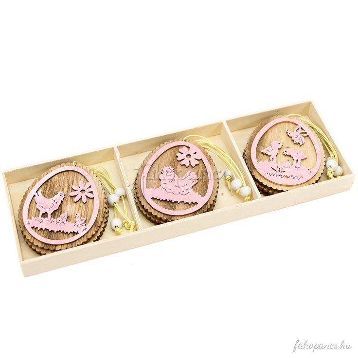 Dekoráció :: Húsvéti dekoráció :: Rózsaszín fa húsvéti tojás (9 db) - Húsvéti dekoráció - Fajáték és Játékbolt - Online Játékbolt - Játék Webáruház!