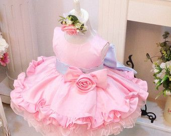 Bling Bling Newborn Party Dress Flower Girl Dress Tulle by PLdress