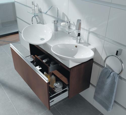 Image Gallery For Website Space saving double sink vanity