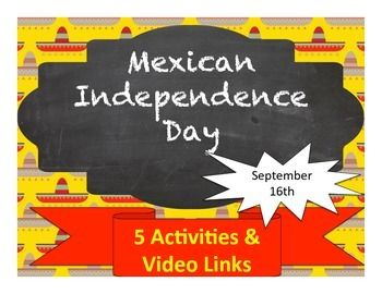 Activities to learn about and acquire vocabulary related to Mexican Independence Day (September 16th).