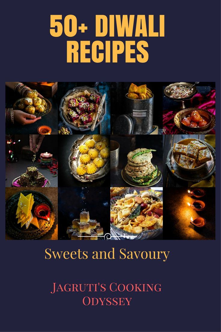 A collection of 50+ Diwali sweets and savoury recipes!